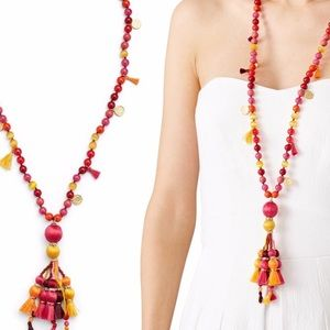 Kate Spade Pretty Pom Poms Tassel Necklace